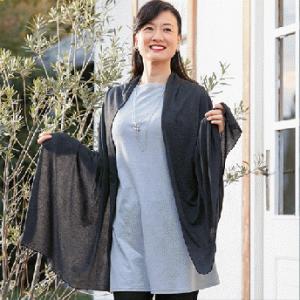 ผ้าคลุมไหล่ ผ้าบางแต่ช่วยให้ร่างกายค่อยๆ อบอุ่นขึ้นได้