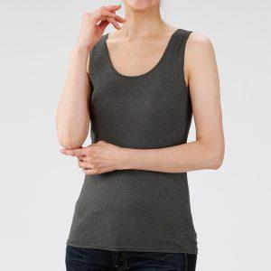 เสื้อกล้ามพร้อมบราในตัว สีดำสวมใส่สบายลดอาการเมือยล้าและให้ความอบอุ่น